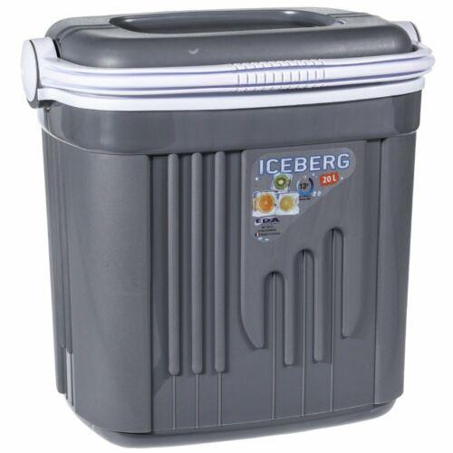 Kühlbox 20 Liter aus Kunststoff grau mit Tragegriff Kühltruhe Kühltasche Camping