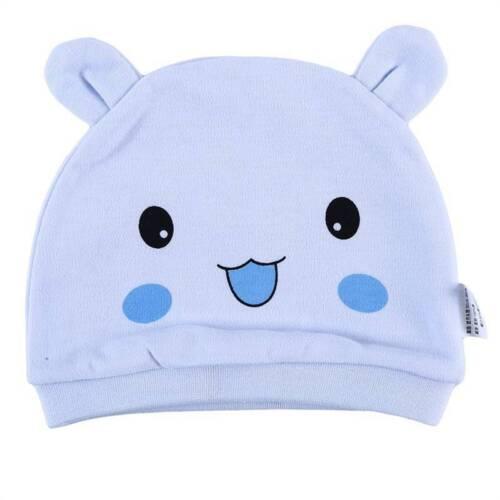 Newborn Baby Infant Cap Cute Cartoon Bunny Tiger Smiley Patterns Cotton Hat 6A