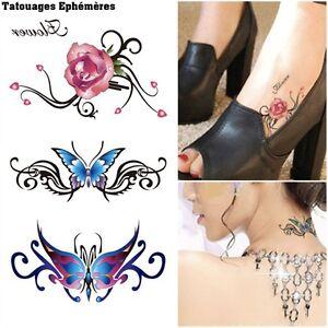 Tatouage Temporaire Ephemere Tribal Femme Papillons Ebay