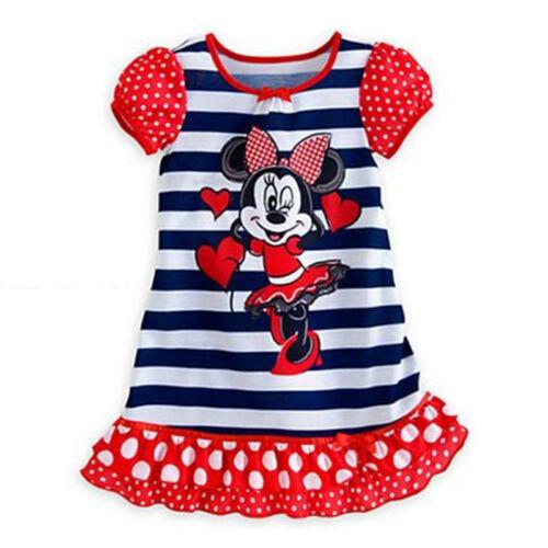 Girls Kids Princess Moana Elsa Sleepwear Pyjamas Nightie Pjs Night Dress  2-13 Y