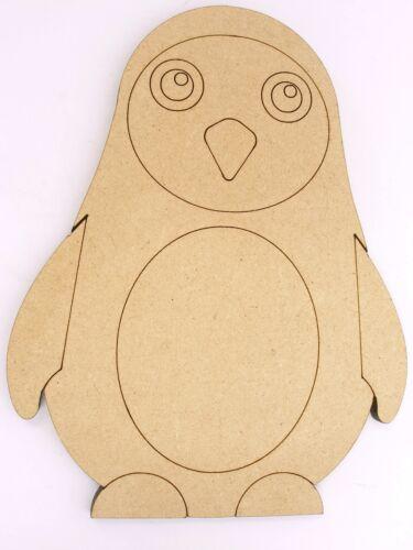 One Wood Wooden Marine Penguin Shape MDF 10cm High Kids Craft DIY Paint Mobile