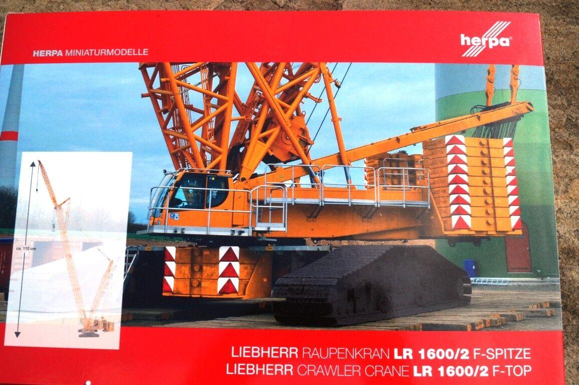 Herpa F-Punta per LIEBHERR gru CINGOLI LR 1600/2, Giallo NUOVO OVP 1:87 307673