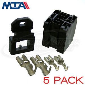MTA-MINI-RELAY-BASE-HOLDER-4-PIN-70-AMP-KIT-MADE-IN-ITALY-5-PACK