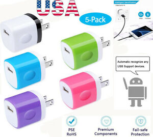 5x-USB-1A-USB-Power-Adapter-AC-Home-Wall-Charger-US-Plug-FOR-Phone-5-6-7-8-X-XS
