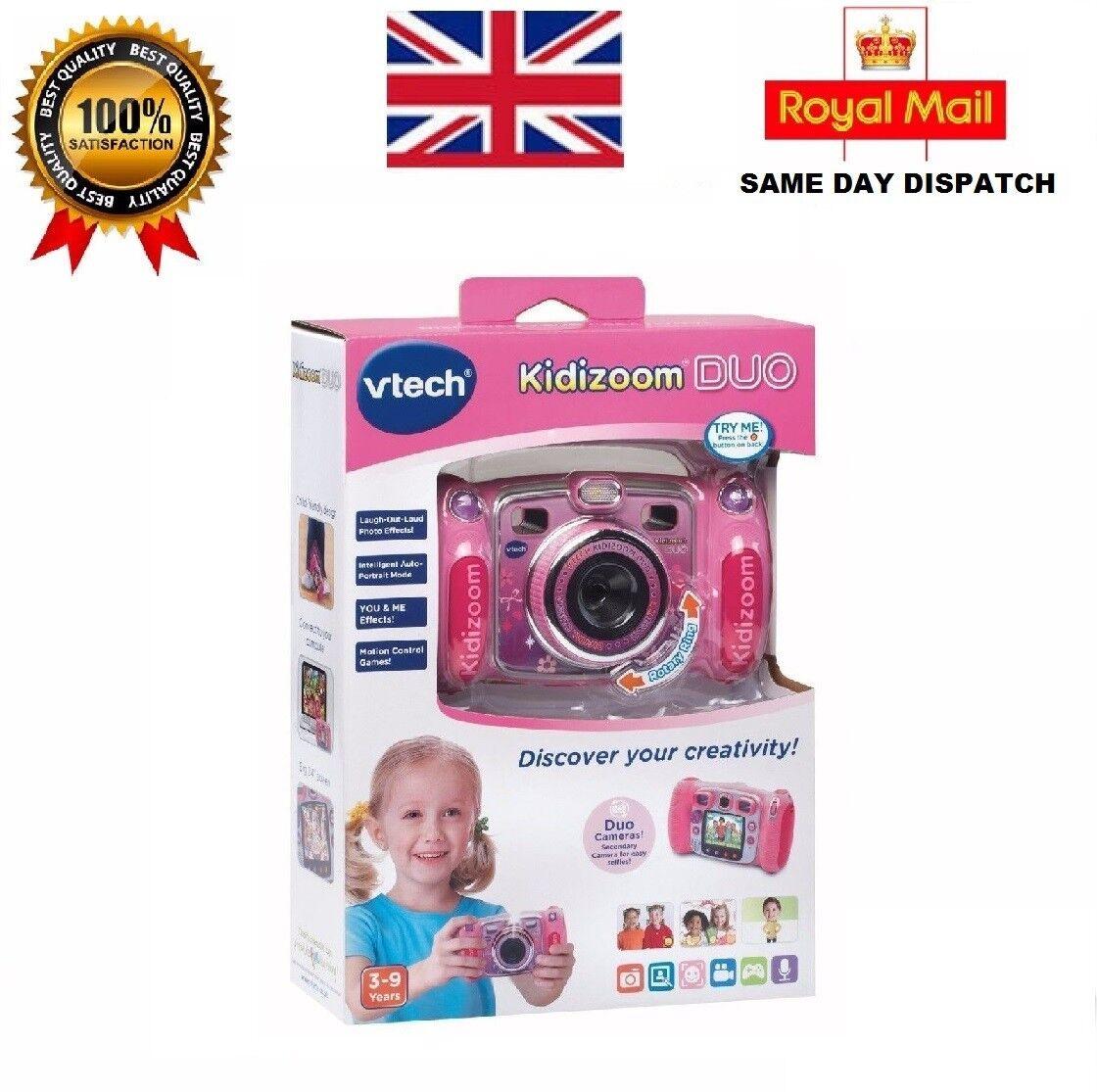VTECH KIDIZOOM DUO 5.0 KIDS DIGITAL CAMERA PINK + FREE 32GB SD CARD