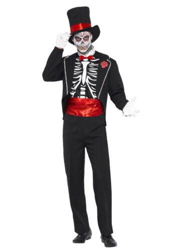 Mens Day of the Dead Skeletons Mexican Costume Halloween Adult Skull Spanish Hat