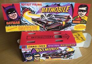 Batimovil-Corgi-267-Caja-Repro-De-Batman-1st-edicion-vacio-con-soporte-interior-solo