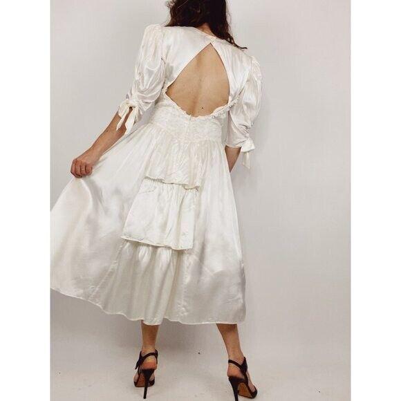 GUNNE SAX Jessica McClintock Size M Vintage White… - image 1