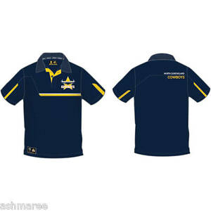 NRL-Queensland-Cowboys-Mens-Premium-Supporter-Collared-Polo-Dress-Shirt