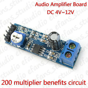 DC 3V 5V12V Audio Power Amplifier Board AMP Module Adjustable volume LM386