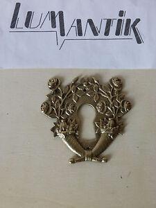 ancienne entrée de serrure en bronze stylisée Régence-meuble//armoire