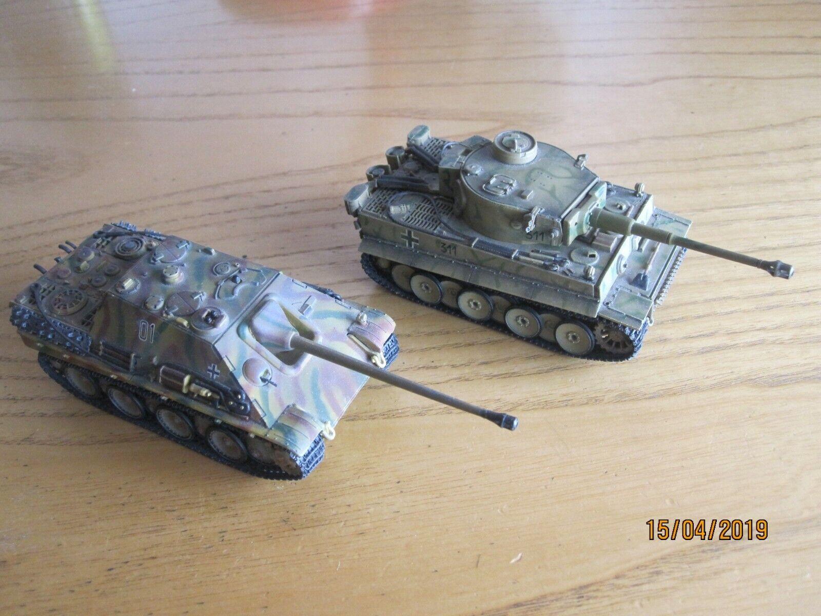 1/72 DRAGON ARMOR - GERMAN: JAGDPANTHER 60006 & TIGER1 60002 - WW2 TANK