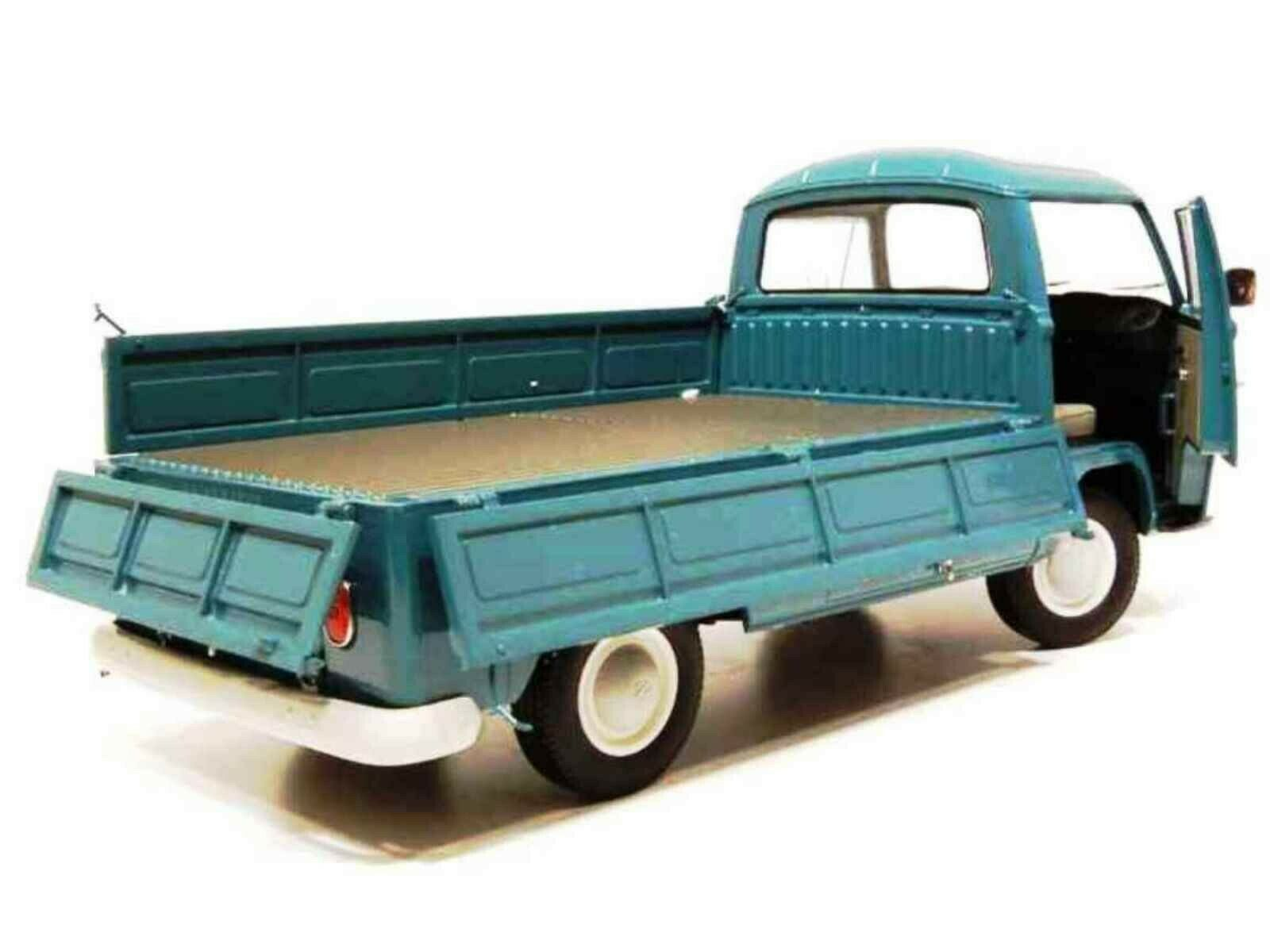 WOW EXTREMELY RARE Volkswagen T2A Flatbed Pickup 1967 Pastel bluee 1 18 Schuco
