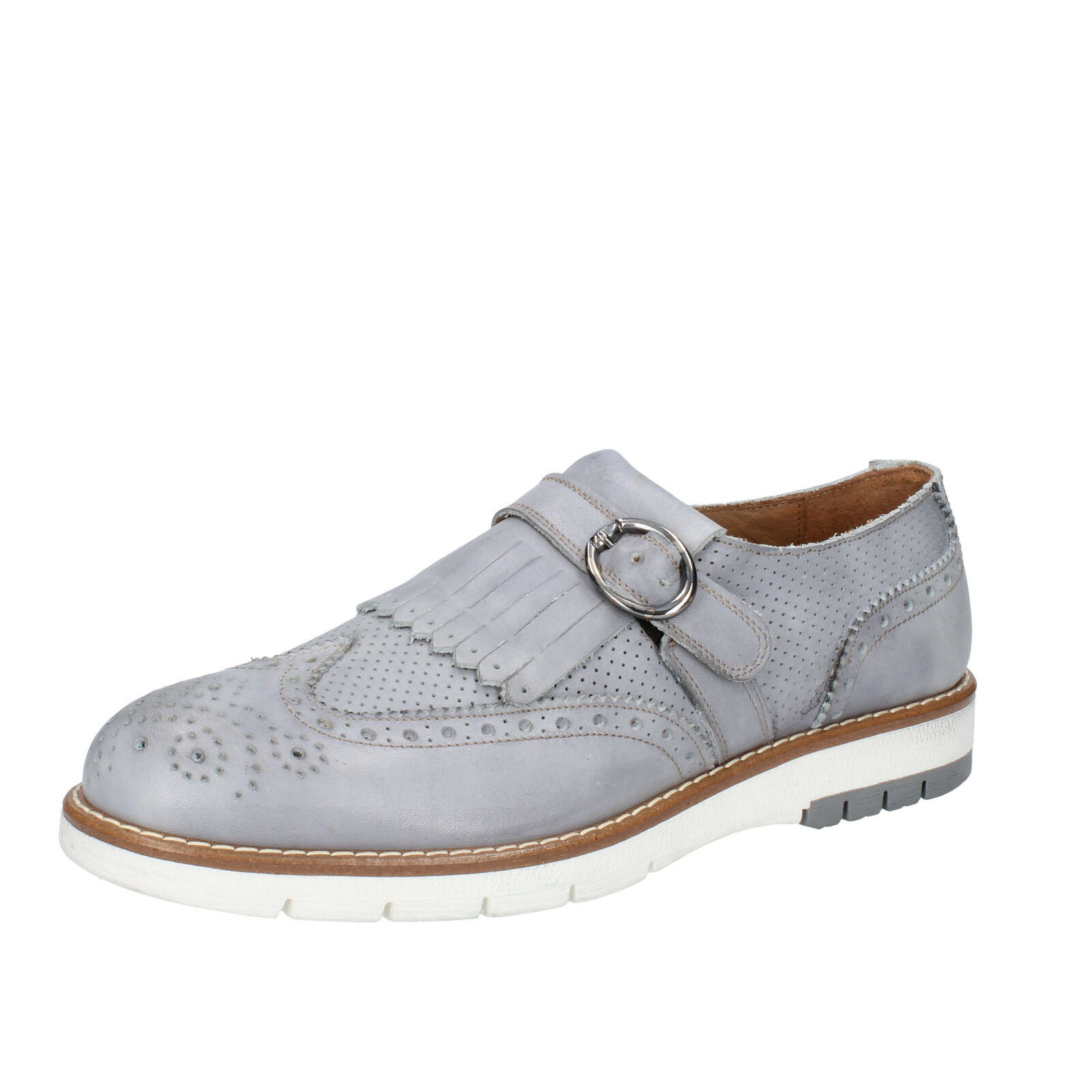 Scarpe  da uomo DI MELLA 12 (EU 45) elegante pelle grigia BZ31 -F  vendita outlet
