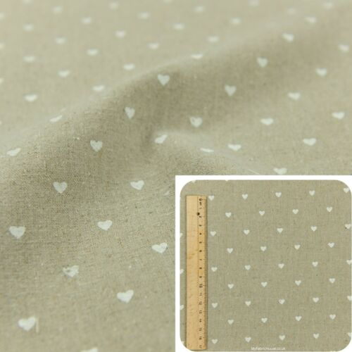 Cuarto gordo Beige Blanco//Metro//FQ Lino costura artesanía hecha a mano de tela Petite Corazón