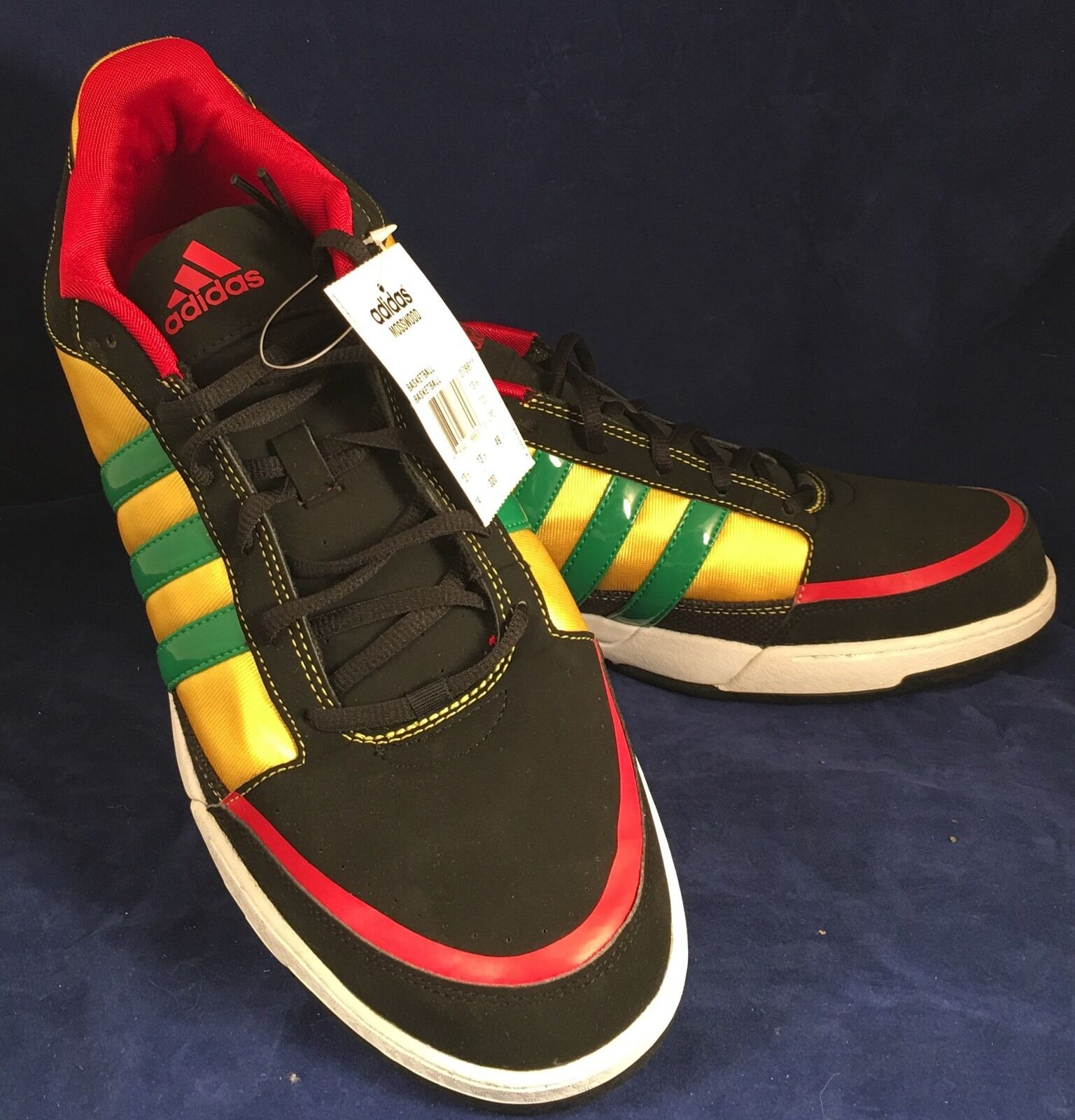 Adidas Mosswood Black/Yellow/Red/Green/White Men's US 14