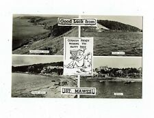 CORNISH POST CARD BY G.W.F. ELLIS REAL PHOTO GOOD LUCK FROM ST. MAWES
