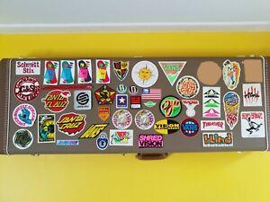 NOS OG vintage 80's skateboard stickers: Powell Peralta-Santa Cruz-Vision-Sims
