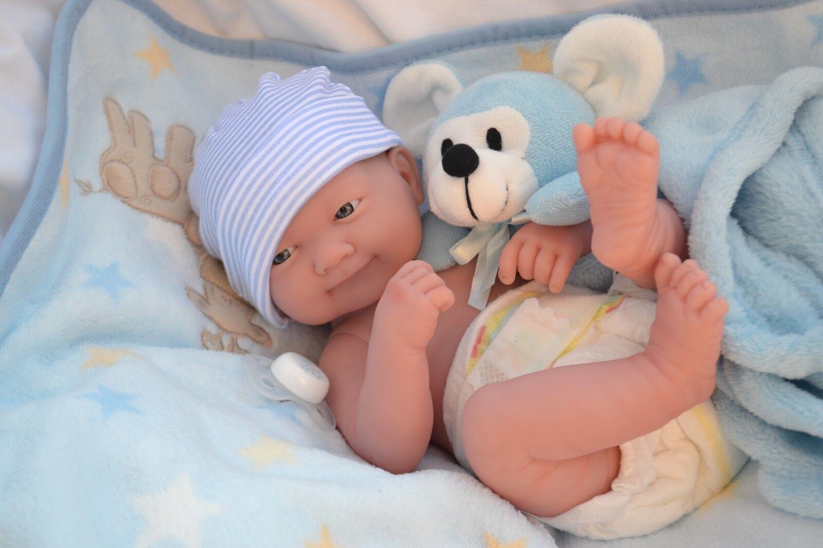 ️ Cutie Pie  ️ BERENGUER LA NEWBORN BABY BOY DOLL + EXTRAS FOR REBORN PLAY NEW