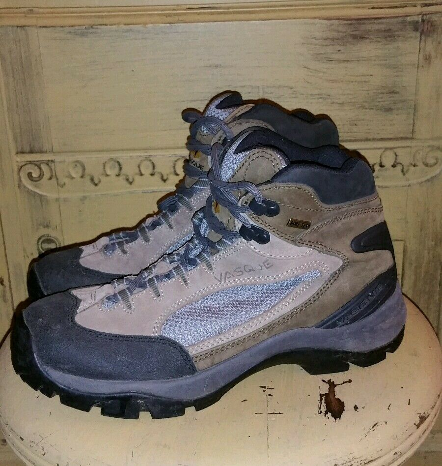 VASQUE GORE-TEX BROWN HIKING TRAIL MOUNTAINEERING BOOTS WOMANS 8.5 M 7433