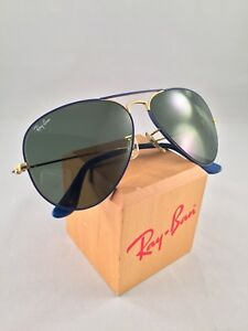 Colors About Mm Bausch Aviators Blue Lomb Flying And Ban Details 58 Vintage Ray Sunglasses CexBrdo