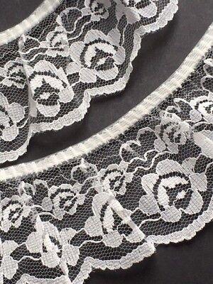 "Ivory//Cream Stretch Lace Trim 2.25/""//5.5cm Sewing Crafts Weddings laverslace"
