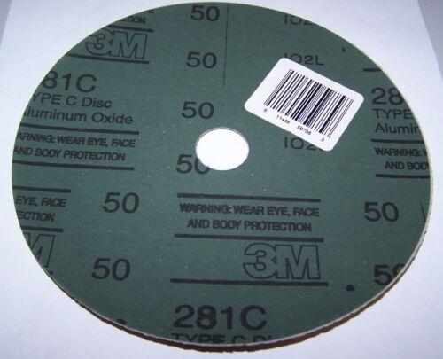 """7/"""" x 7//8/"""" 3M 51144-8995 FIBER TYPE C SANDING DISC 281C"""