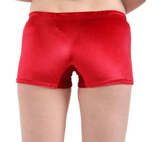 Ladies Women Velvet Elasticated Shorts Hot Pants-Luxury Look