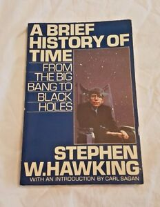 A-Brief-History-of-Time-Stephen-Hawking-Softcover-1st-Edition-April-1988-RARE