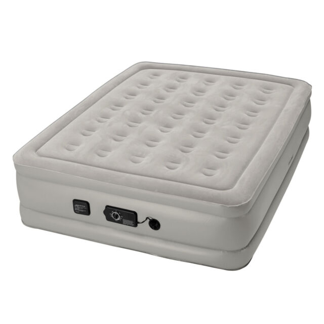 Insta-Bed Raised 19 Inch Queen Airbed Air Mattress with Built In neverFlat Pump