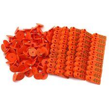 Orange Plastic 401 500 Number Animal Livestock Ear Tag Set For Goat Sheep Pig