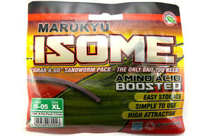 Marukyu Isome Sandworm IS-05 Green | Various sizes | Artificial Bait