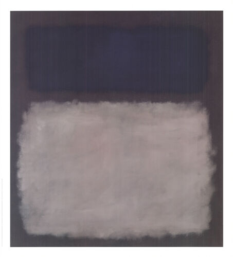 "No Text 30/"" x 27.5/"" Poster 2005 Abstract MARK ROTHKO Blue /& Gray"