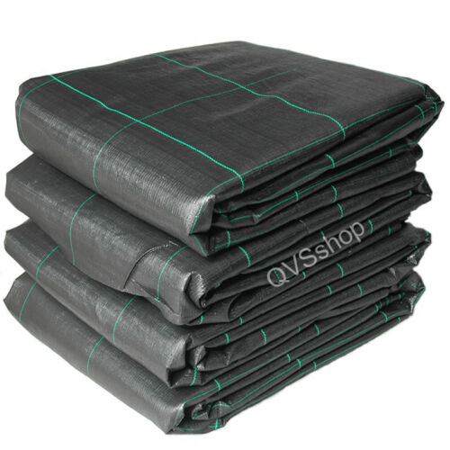 1M x 40M Weed Stop Control Fabric Black Heavy Duty Garden Ground Cover Membrane