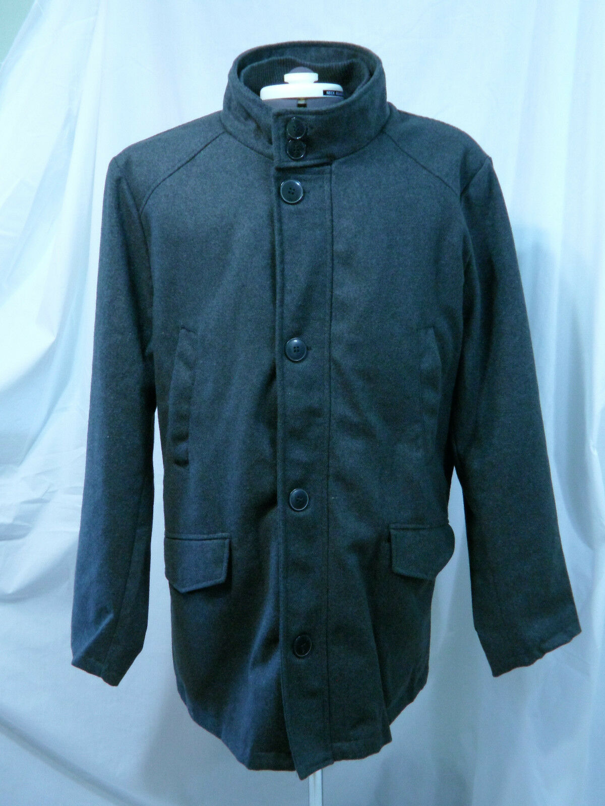 Herren Wool Blend Coat Größe YOKI NWT grau Navy Größe Coat XL New with Tags d1a476