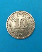 MALAYA & BRITISH BORNEO 10 CENTS 1961 KN