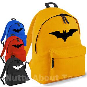 Image Is Loading Batman Backpack School Bag Kids Rucksack