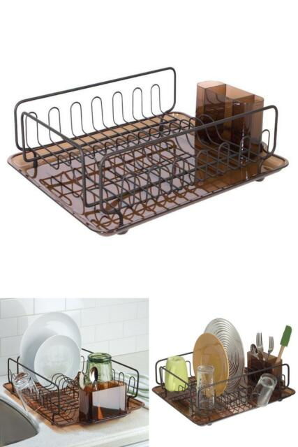 Interdesign Forma Kitchen Dish Drying Rack With Tray – Drainer For Drying  Glasse