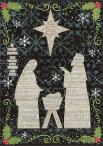 Religious Christmas Music.Details About Jesus Mary And Joseph Music Sheets With Glitter Religious Christmas Card