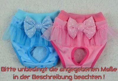 Schutzhöschen Menstruationshöschen Menstruation Hunde Größen S-m Rosa O. Blau
