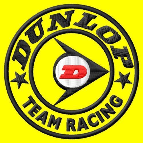 Dunlop TEAM RACING iron-on patch ricamate