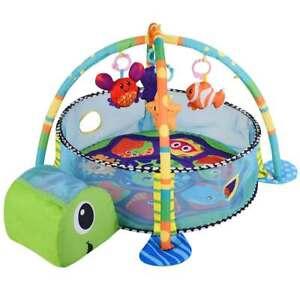 Palestrina Box Tappeto Neonato Bambino Tartaruga Fitch Baby con Recinto Palline