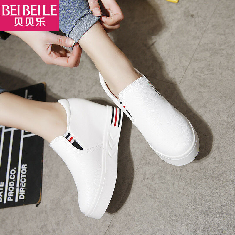 Newest Spring Korean Women High Heels Thick Shoes Sole Shoes Flatform Casual Shoes Thick d34222