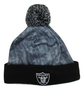 Image is loading Oakland-Raiders-Light-Up-Logo-Pom-Pom-Hat 519471c2e