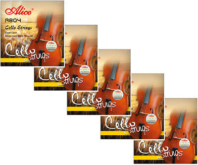 adgc Cheap Sales 50% Diplomatic 5 Sets Alice A804 Steel Core Aluminum Alloy Wound Cello Strings