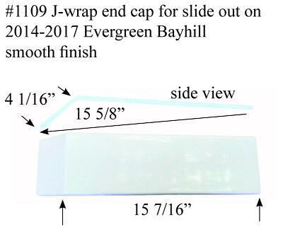 Evergreen Rv J Wrap End Cap Fiberglass 1109 Polar White
