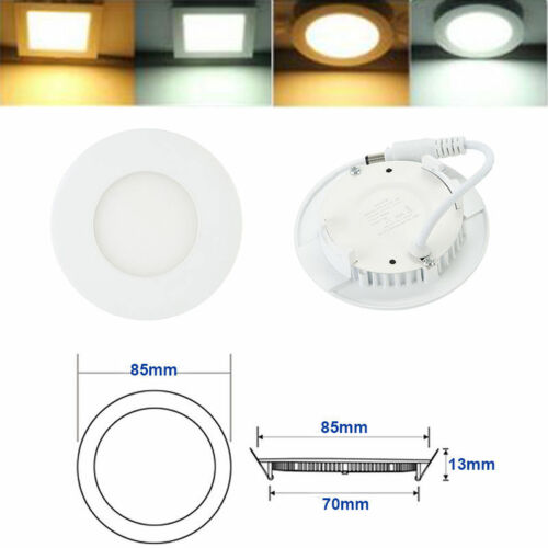 CEILING LED PANEL LIGHTS FLAT DOWNLIGHTS RECESSED LAMP BULBS 3W 6W 24W