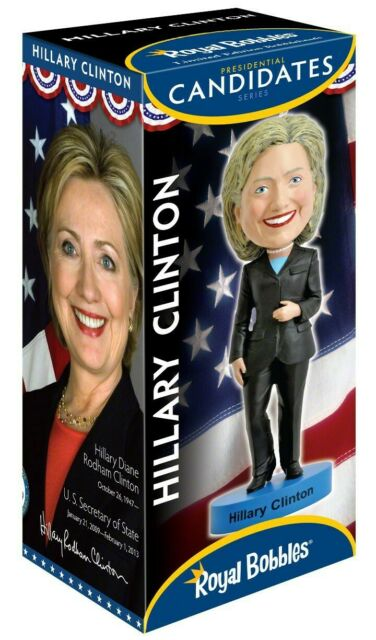 Figure Hillary Clinton Élection USA Original Royal Bobbles Bobble Head Heurtoir