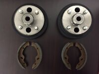Ezgo Golf Cart Brake Drums And Shoes Kit 97- Up