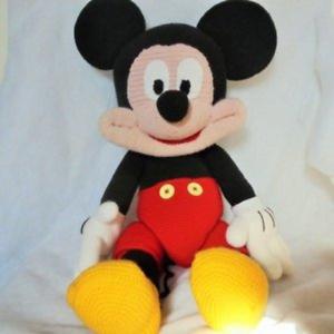 Doudou Mickey Mouse Géant 75 Cm Fait Main Au Crochet